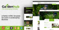 The Garden HUB – Gardening, Lawn & Landscaping HTML Template build for Lawn Services Business, Landscaping Companies, Groundskeepers.
