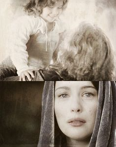 """""""I looked into your future and I saw death."""" """"But there is also life. You saw there was a child...you saw my son."""""""