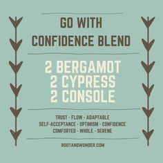 doTERRA, bergamot, cypress, console, essential oils, confidence blend, diffuser