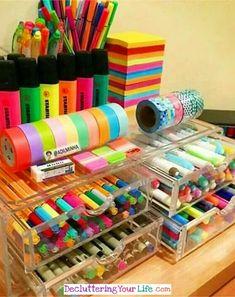 Craft Storage Ideas for Small Spaces - Craft Room Organizing Ideas #gettingorganized #goals #organizationideasforthehome