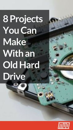 7 DIY Projects You Can Make With an Old Hard Drive is part of Diy Projects You Can Make With An Old Hard Drive - Don't throw out that old hard drive from your computer! Whether it's functional or not, your old drive still has some cool uses Electronics Projects, Computer Projects, Pi Projects, Arduino Projects, Diy Electronics, Technology Design, Cool Technology, Computer Technology, Technology Wallpaper