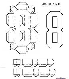 LETTERE DELL'ALFABETO E NUMERI IN 3D FAI DA TE | CreaConLaCarta Diy Birthday Decorations, Birthday Diy, Handmade Birthday Cards, 3d Letters, Letters And Numbers, Paper Crafts Origami, Diy Paper, Paper Art, Kirigami