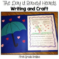 The Day It Rained Hearts writing and craft.  This blog post has tons of ideas for Valentine's Day and a FREEBIE!!