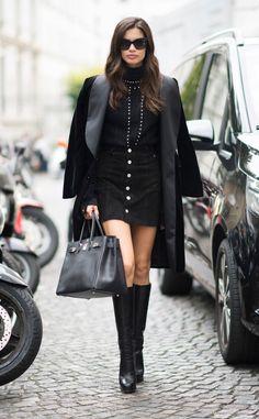 Sara Sampaio from Best Celeb Street Style From Paris Spring 2017
