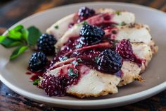 Grilled Chicken with Blackberry Sweet and Sour Sauce Recipe -- if the beautiful color doesn't get you, the awesome taste surely will!!!   http://www.steamykitchen.com/27061-grilled-chicken-with-blackberry-sweet-and-sour-sauce-recipe-video.html