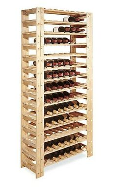 """Swedish 126 Bottle Wine Rack (Natural) by Wine Enthusiast. $349.99. 126 Bottle Wine Rack. Size: 69""""H x 35""""W x 13""""D. New and Improved--Stronger in Mahogany! Sourced from the finest sustainable tree plantations in Indonesia, our Swedish 126 Bottle Wine Rack is now more durable, more beautiful and more eco-friendly than ever before. Hand-cut and hand-sanded for a remarkably even color and grain. You can use these sturdy pieces alone or group them together to create a customiz..."""