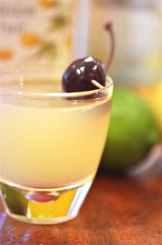 ... lime, lemon and passion fruit syrup. A great drink you can make at