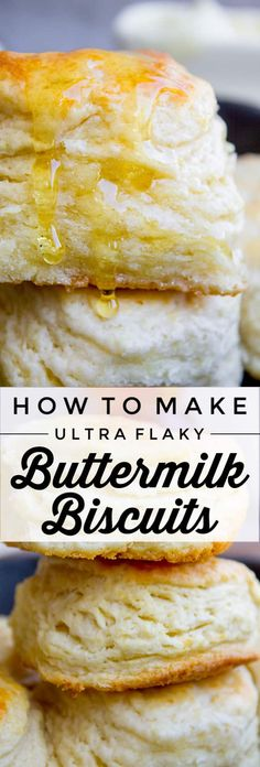 Flaky Buttermilk Biscuits from The Food Charlatan. This ultra flaky homemade buttermilk biscuit is the perfect comfort food! Who can resist a crispy-on-the-outside, tender-in-the-middle, mile-high flaky buttermilk biscuit? Here's how to make them. It's not hard, just a few simple tricks! Keep reading!#biscuits #buttermilk #homemade #flaky #butter #easy #fromscratch Flaky Buttermilk Biscuits Recipe, Homemade Buttermilk Biscuits, Flaky Biscuits, Buttermilk Recipes, Recipe For Homemade Biscuits, Southern Homemade Biscuits, Best Biscuit Recipe, Easy Biscuit Recipes, Simple Biscuit Recipe