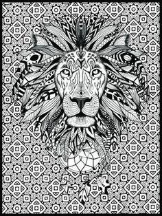 Lion Mandala Coloring Pages. 30 Lion Mandala Coloring Pages. Coloring Page Mandala with A Lion and A Crown Vector Lion Coloring Pages, Mandala Coloring Pages, Coloring For Kids, Printable Coloring Pages, Coloring Books, Lion Pictures, Lion Images, Poster Colour, To Color
