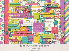 Good-bye Winter - Digital Scrapbooking Kit for Spring