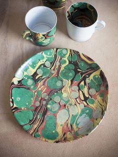 Astier de Villatte Faux Marble Mug from Ann Koerner Antiques