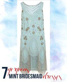 7 Gorgeous Mint Bridesmaid Dresses
