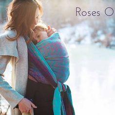 Oscha Draagdoek Oscha Roses Oia, limited edition.