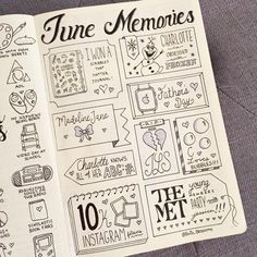 "1,351 Likes, 30 Comments - Bujo Blossoms (@bujo_blossoms) on Instagram: ""June Memories - better late than never, right? ‍♀️ . . . . . . . . . #bujo #bujospread #bujolove…"""