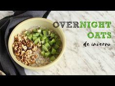 Receita fácil e deliciosa de overnight oats ou papas de aveia adormecida num versão quente e perfeita para o inverno. Granola, Overnight Oats, Choices, Brunch, Healthy, Youtube, Black Bean Burgers, Overnight Oatmeal, Grain Salad