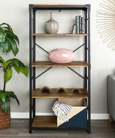 Barnwood Angle Iron & Wood Bookshelf | Scandinavian Interior Design | #scandinavian #interior