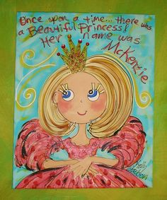 There Once Was A Princess MEDIUM  size canvas by YelliKelli, $50.00