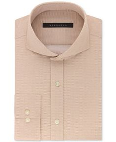 "Macy's, Sean John Men's Classic/Regular Fit Cappuccino Neat-Print Cotton Dress Shirt, get ""tailored fit"" not classic"
