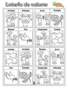 Etica y valores Spanish Vocabulary, Teaching Spanish, Elementary Spanish, Elementary Schools, Kindergarten, Grammar Book, English Activities, Anti Bullying, Social Stories
