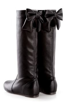 Black Boots with Bows.