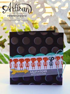 Stamp 2 LiNotte : Use a decorative mask ! - Stampin'Up ! Artisan Blog Hop - Hélène LEGRAND