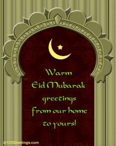 From our home to yours, we send you the warmest of Eid blessings. Adha Mubarak, Ramadan Mubarak, Happy Eid Ul Fitr, Eid Images, Eid Mubarik, Eid Holiday, Eid Festival, Eid Mubarak Greetings, Muslim Family