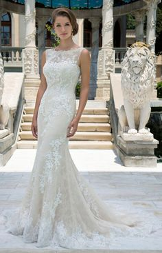 Featured Dress: Venus Bridal; Wedding dress idea.