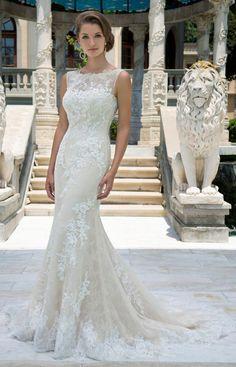 Featured Dress: Venus Bridal; Wedding dress idea.