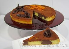 Tarta de queso con chocolate a la naranja. Fácil receta casera , paso a paso.  http://www.golosolandia.com/2014/03/tarta-de-queso-con-chocolate-la-naranja.html