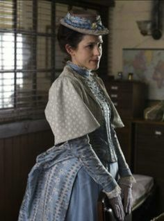 Amanda Hale as Emily Reid in Ripper Street (TV Series, Victorian reproduction costume. Ripper Street, Theatre Costumes, Movie Costumes, Period Costumes, The Belle Epoque, Gothic, 19th Century Fashion, Le Far West, Historical Costume