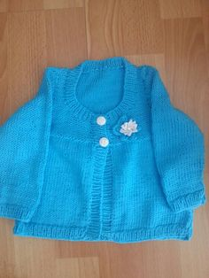 Turquoise cardi for Violet.