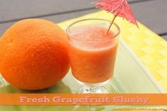 Only 2 ingredients!! Grapefruit and bananas.  Refreshing delicious and allergy free!