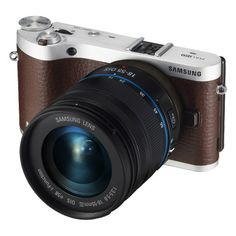 20.3 Megapixel SMART Camera with Built-in Wi-Fi and 18-55mm Lens (Brown) EV-NX300ZBSVUS | Samsung Digital Imaging