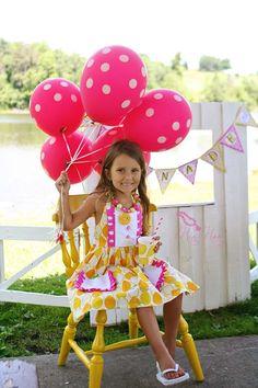 Pink Lemonade Party via Tea Party Designs and MiaMoo Designs