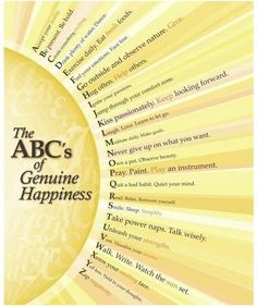 ABC of geniune happiness