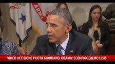 """Video uccisione pilota giordano, Obama: """"Sconfiggeremo ISIS"""""""