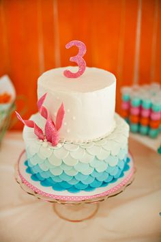 Tartas de cumpleaños - birthday Cake - Ombre Under the Sea Cake