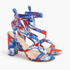 Shop the Women's Wrap-Around Heels In Ratti® Rio Floral at J.Crew and see the entire selection of Women's Sandals. Shop J. Gladiator Sandals, Women's Shoes Sandals, Shoe Boots, Floral Sandals, Wrap Around Heels, Loafer Mules, Sneaker Heels, Trendy Shoes, Loafers For Women