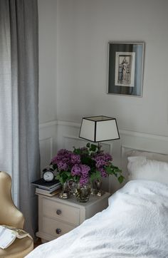 Flowers in the bedroom- lilac flower