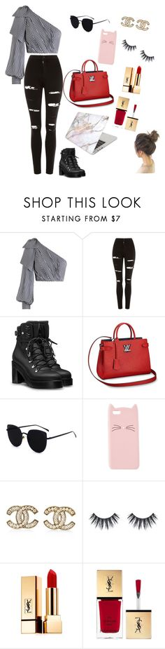 """""""Elegancy autumn (work)"""" by wendyfashion on Polyvore featuring Zimmermann, Topshop, Charlotte Russe, Chanel, Yves Saint Laurent and Recover"""