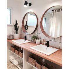 Salle+de+bain+au+style+scandinave  #sallesdebain #francedecoration #designinterieur http://www.delightfull.eu/en/