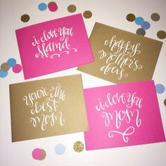 Mother's Day Handwritten Note Card   by allshewrotenotes on Etsy, $3.00