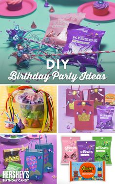 Searching for some super-sweet ideas to throw the perfect birthday party for the little princess in your life? With these fun craft ideas and HERSHEY'S Birthday candy, there's something for everyone. From Birthday KISSES Rings to HERSHEY'S Mermaid Goodie Bags—give her a birthday she'll treasure forever! Let's Birthday!