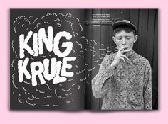 brianaloha:  Lettering for an editorial spread on King Krule ...