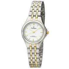 Champion CH26695B Women's Watch Two-Tone Stainless Steel Band With White Dial