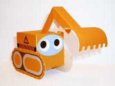 Paper Box World -- construction vehicles-print and create for free!