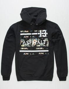 ASPHALT YACHT CLUB Island Stripe Mens Hoodie - BLACK - 297630100 343fa9558d2