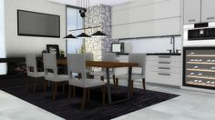 3t4 Forest Hill Diningroom at MXIMS via Sims 4 Updates