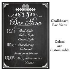 Stunning Michigan Summer Wedding | Wedding, Bar menu and Bar