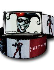 Harley Quinn Red White and Black Web Belt